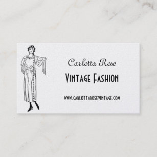 Ladies clothing store business cards zazzle nz black and gold vintage fashion business card reheart Gallery