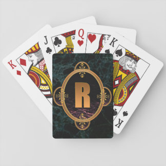 Black and Golden Monogram Playing Cards