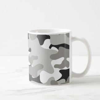 Black and Gray Camo Basic White Mug