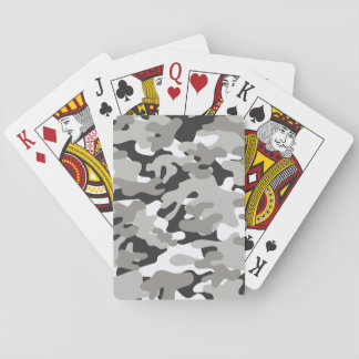 Black and Gray Camo Design Playing Cards