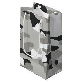 Black and Gray Camo Design Small Gift Bag