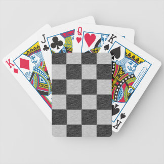 Black and Gray Checkered Playing Cards