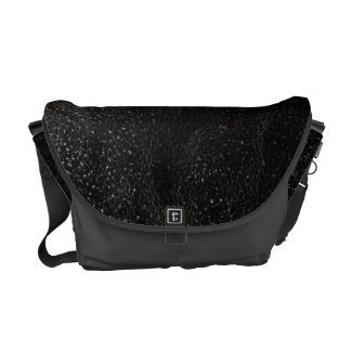 Black and Gray Outer Space Medium Messenger Bags