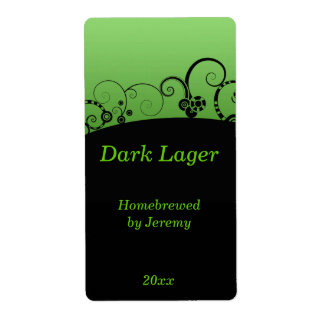 Black and Green Beer Label