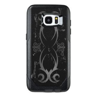Black and Grey Cool Grunge Tribal Tattoo Design OtterBox Samsung Galaxy S7 Edge Case