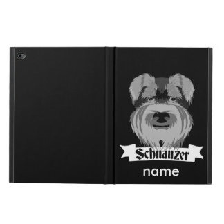 Black and Grey Schnauzer Powis iPad Air 2 Case