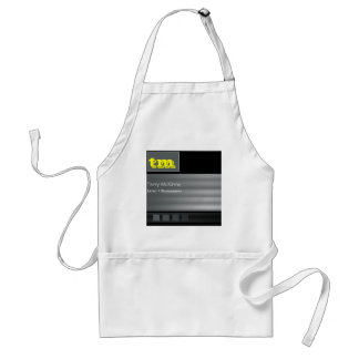 Black and Grey Stripes and Cubes Apron