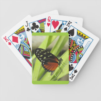 Black and Orange Butterfly Playing Cards