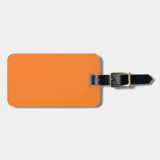 Black and Orange Luggage Tag