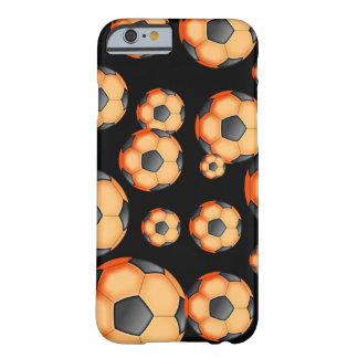 Black and orange Soccer Design Barely There iPhone 6 Case