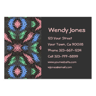 black and pink abstract pack of chubby business cards