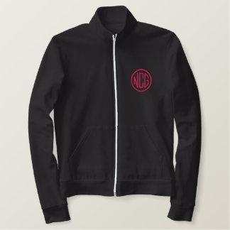 Black and Pink Embroidered Monogram Jacket