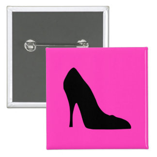 Black and Pink Pumps 15 Cm Square Badge