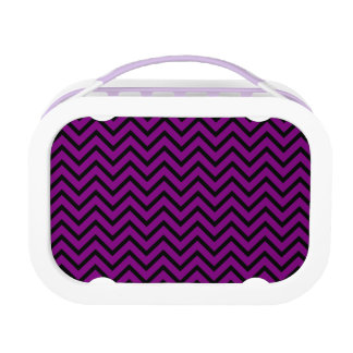 Black and Purple Chevron Lunchbox