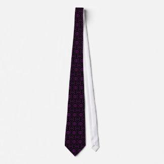 Black and Purple Decorative Pattern Tie