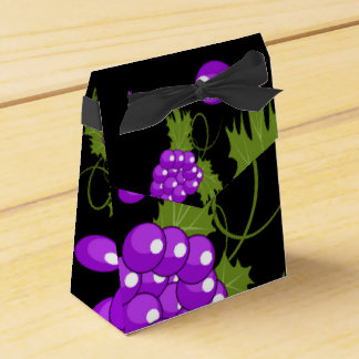 black and purple grapevine gift favour box