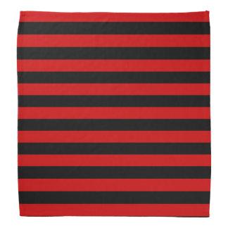 Black and Red Bold Stripes Pattern Bandana