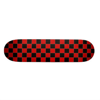 Black and Red Checkered Skateboard