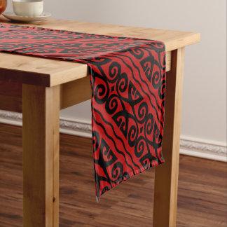 Black And Red Modern Pattern Short Table Runner