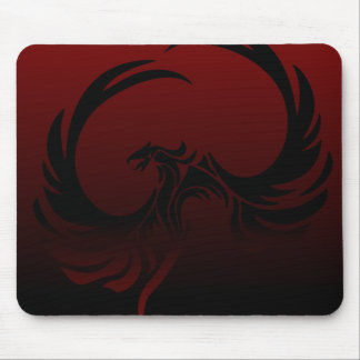 Black and Red Phoenix Mousepad