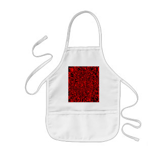 Black and Red Punk Kids Apron