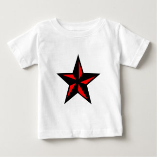 Black and Red Star Baby T-Shirt