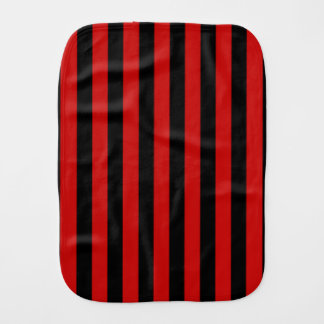 Black and Red Stripe Burp Cloth