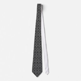 Black and Silver Celtic Knot Pattern Tie