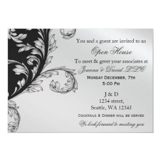 black and silver Corporate party Invitation