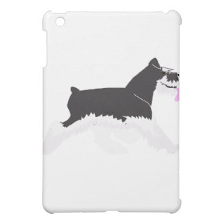 Black and Silver Schnauzer Cover For The iPad Mini