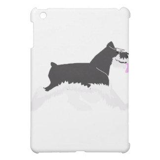 Black and Silver Schnauzer iPad Mini Cover