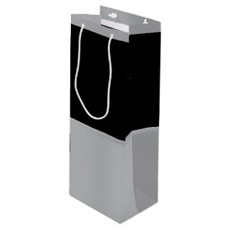 Black and Silver Wine Gift Bag