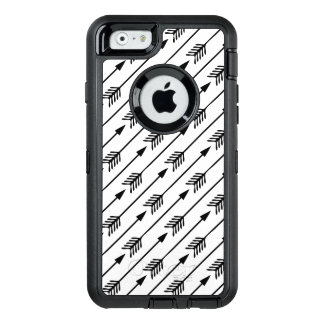 Black and White Arrows Pattern OtterBox Defender iPhone Case