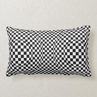 Black and White Art Deco Modern Lumbar Cushion