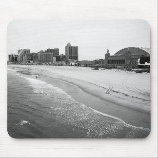 Black and White Atlantic City Mousepad