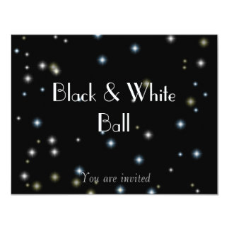 Black and White Ball 11 Cm X 14 Cm Invitation Card