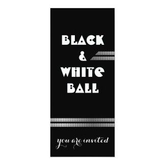 Black and white Ball 10 Cm X 24 Cm Invitation Card