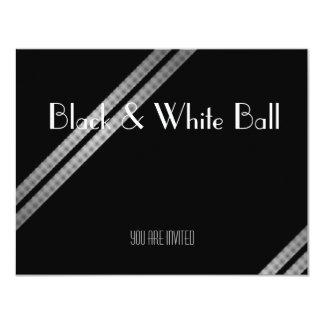 Black and White Ball Custom Invite
