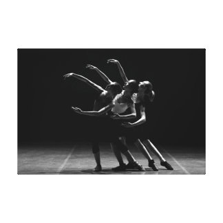 Black and White Ballet Photo of Ballerinas Poster Canvas Print