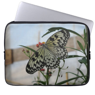 Black and white Butterfly Laptop Sleeve