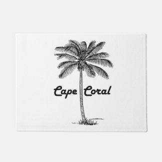 Black and White Cape Coral & Palm design Doormat