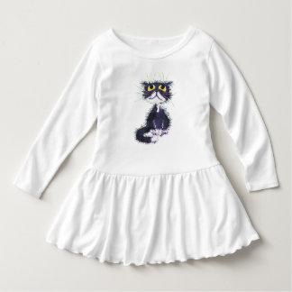 Black and white cat. dress