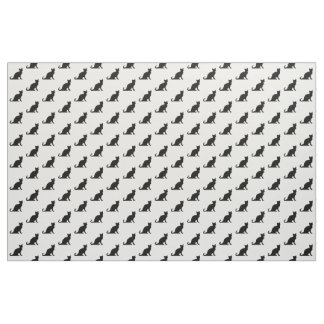 Black and white cat pattern design textile fabric