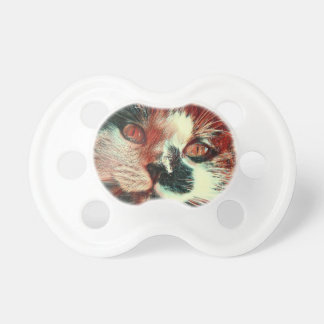 Black And White Cat With Digital Painting Effect Pacifiers