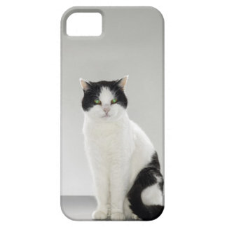 Black and white cat with glowing green eyes case for the iPhone 5