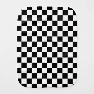 Black and White Check pattern Burp Cloth