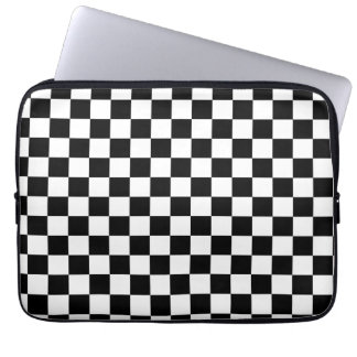 Black and White Checker Pattern Laptop Sleeve