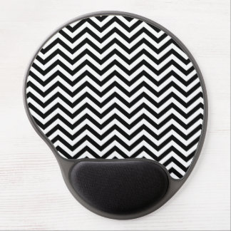 Black and White Chevron Gel Mousepad