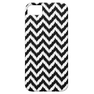 Black and White Chevron Ikat Pattern iPhone 5 Cover