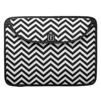 Black and White Chevron MacBook Pro Sleeve